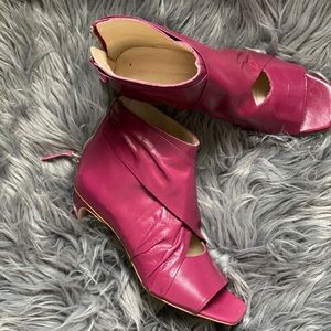 Zara Dark rose kitten heel bootie warm once.